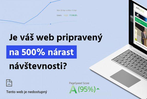 Je váš web pripravený na 500% nárast návštevnosti?