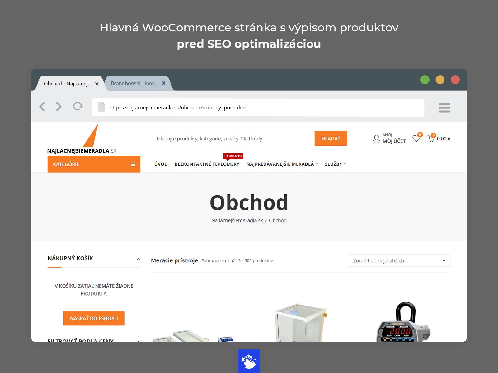 WooCommerce SEO - Pred optimalizáciou obchodu